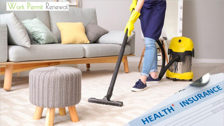 maid work permit medical insurance